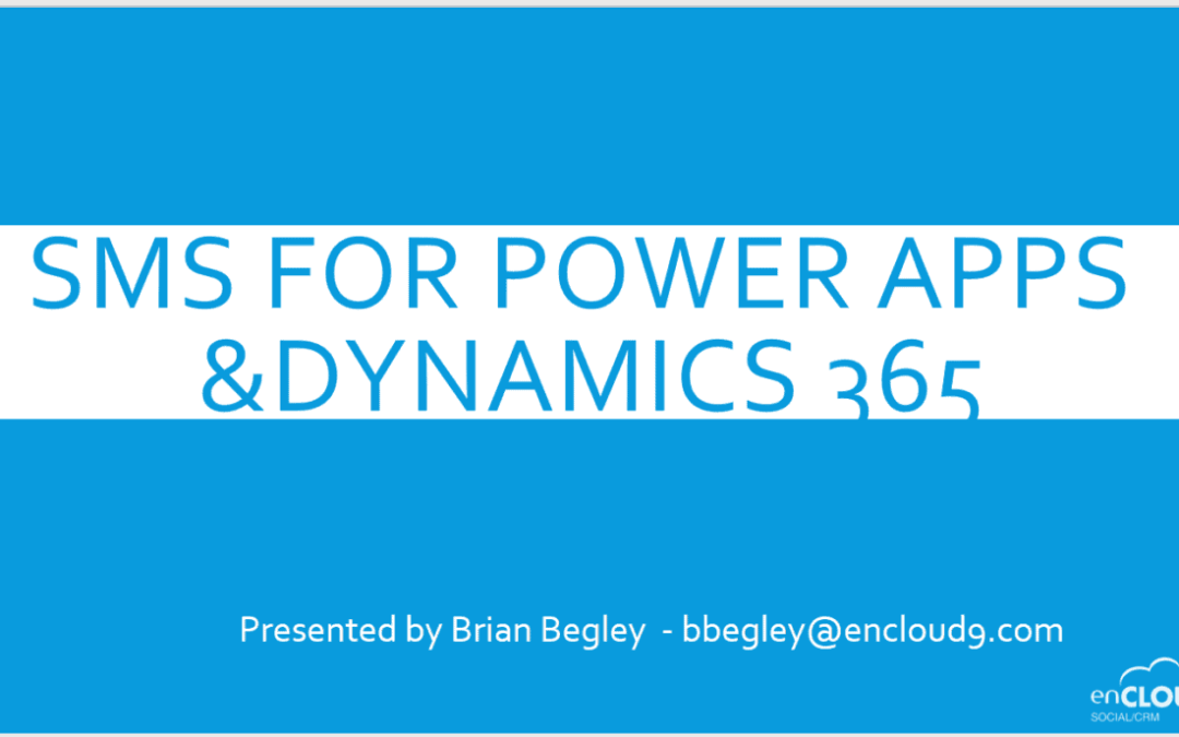 May Webinar – SMS Messaging in Dynamics 365