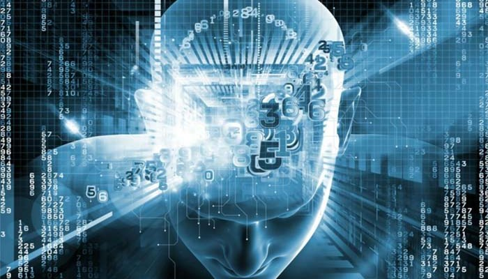an image of robotics process automation personified by a human in digital space