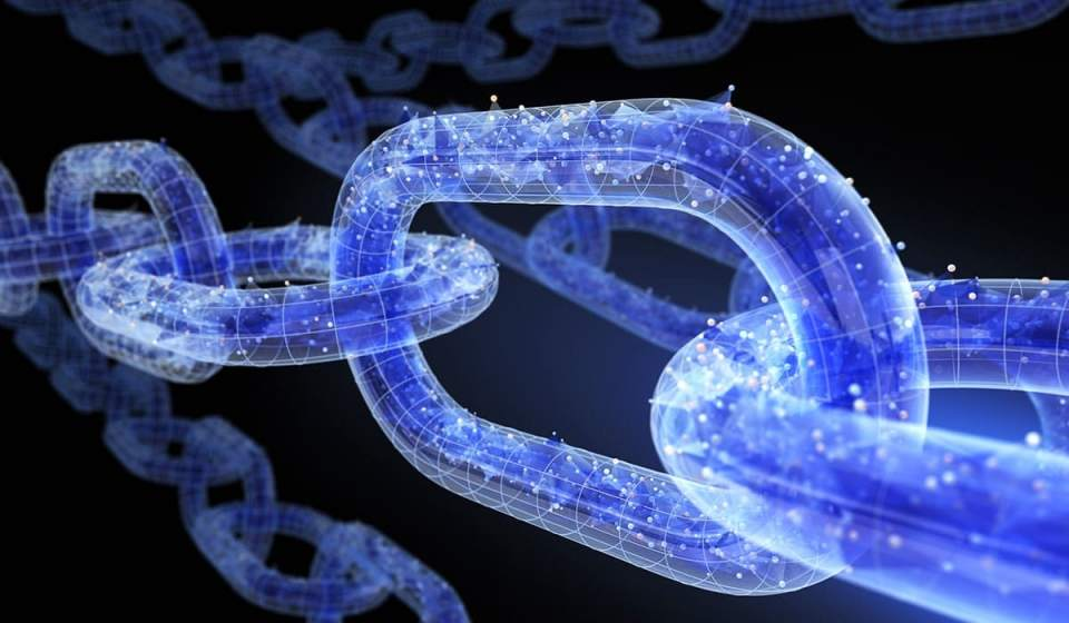 an image of blockchain technology as one of the predicted 2019 manufacturing trends