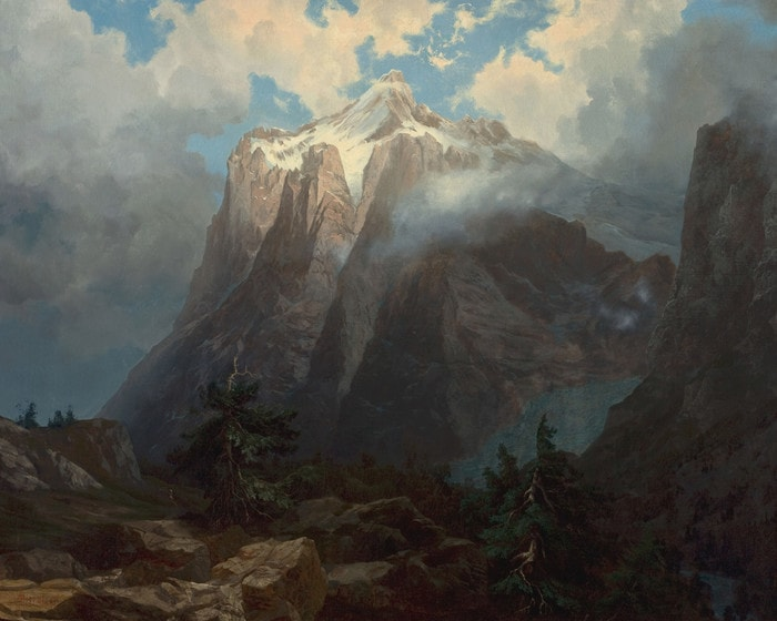 Mount Brewer from King's River Canyon by Albert Bierstadt
