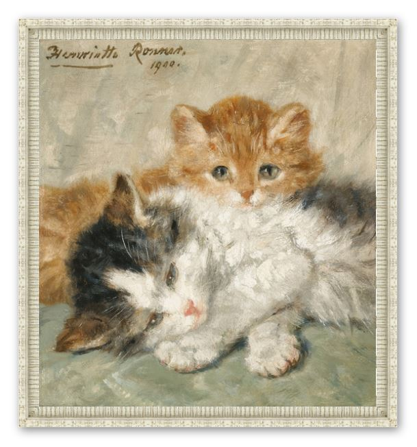 Sleep, Kittens by Henriette Ronner Knip