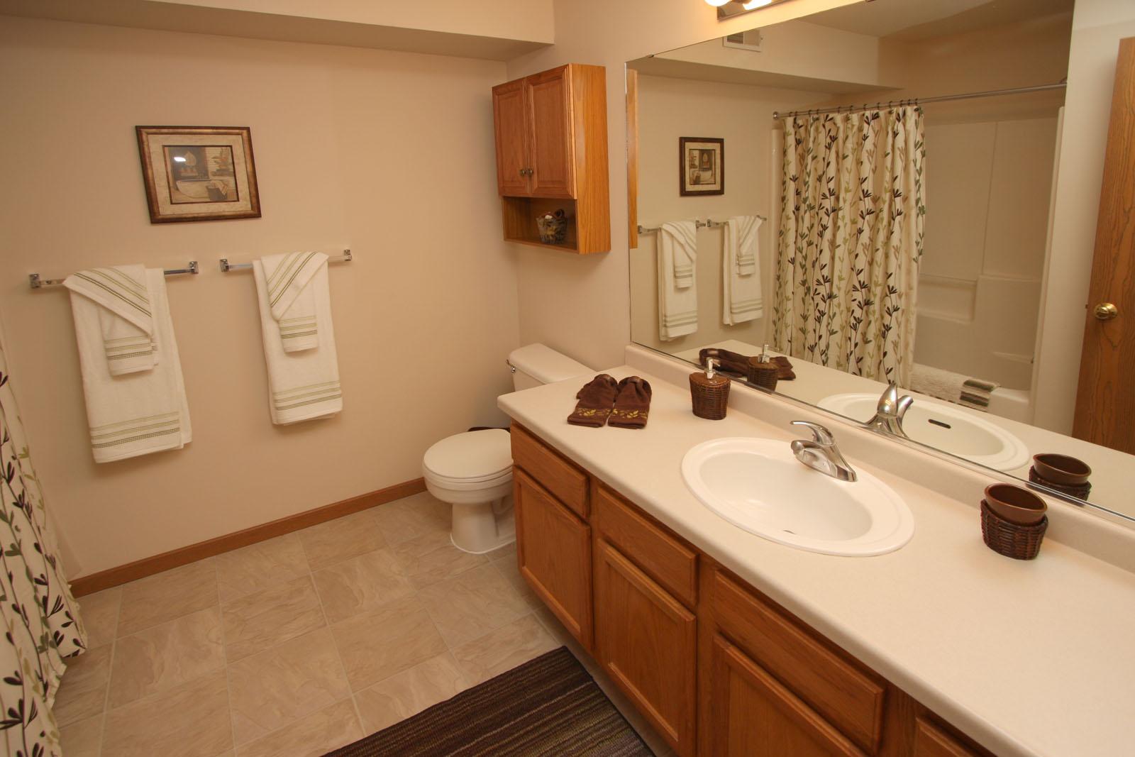Mirrors - Encore Glass on Apartment Bathroom  id=66062
