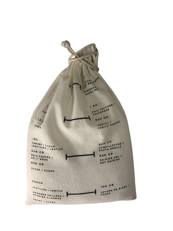 Pochon en coton bio gradué pour condiments