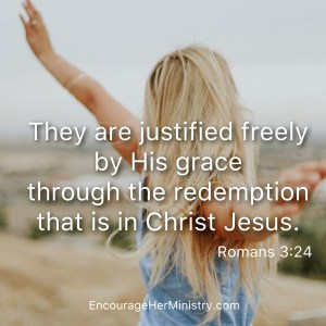 Arms raised identity in Christ, justified and redeemed