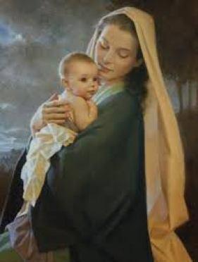 Virgen con bb
