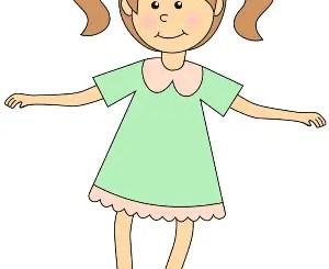 niña animada