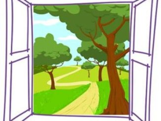ventana dibujada