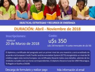 Curso de posgrado virtual de lectura yescritura para docentes