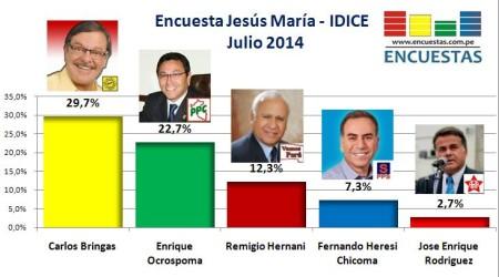 Encuesta Jesús María julio 2014