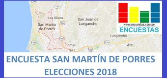 Encuesta Alcaldía de San Martín de Porres – Abril 2018