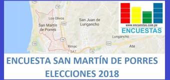 Encuesta Alcaldía de San Martín de Porres – Setiembre 2018