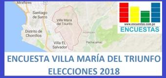 Encuesta Alcaldía de Villa María del Triunfo – Abril 2018