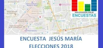 Encuesta Alcaldía de Jesús María – Setiembre 2018