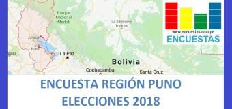 Encuesta Gobierno Regional de Puno – Abril 2018