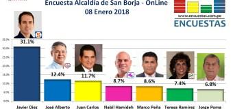 Encuesta Online Alcaldía de San Borja – 08 Enero de 2018