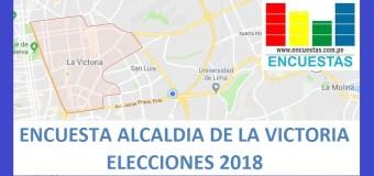 Encuesta Alcaldía de La Victoria – Setiembre 2018