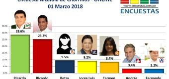 Encuesta Online Alcaldía de Chorrillos – 01 Marzo 2018