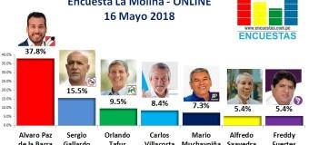 Encuesta La Molina, Online – 16 Mayo 2018
