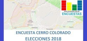 Encuesta Alcaldía de Cerro Colorado – Setiembre 2018