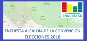 Encuesta Alcaldía Provincial de La Convención – Agosto 2018