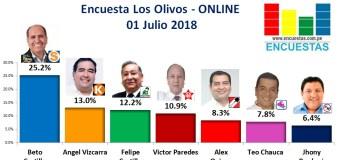 Encuesta Los Olivos, Online – 01 Julio 2018