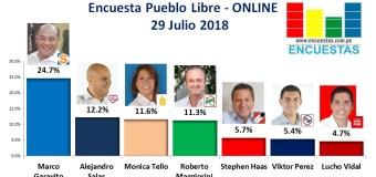 Encuesta Pueblo Libre, Online – 29 Julio 2018
