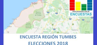Encuesta Gobierno Regional de Tumbes – Agosto 2018