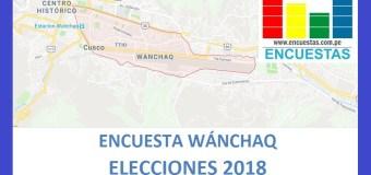Encuesta Alcaldía de Wánchaq – Setiembre 2018