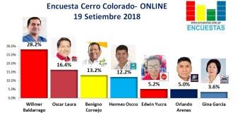 Encuesta Cerro Colorado, Online – 19 Setiembre 2018