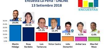 Encuesta La Perla, Online – 13 Setiembre 2018
