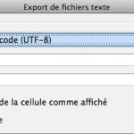 options d'enregistrement .csv