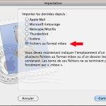 importer un fichier mbox
