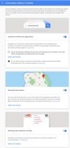 Activer ou désactiver Google