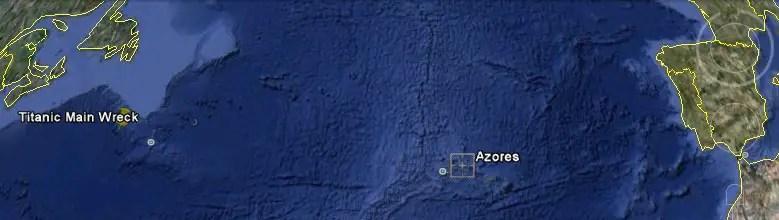 Rms Carpathia Wreck Site Map
