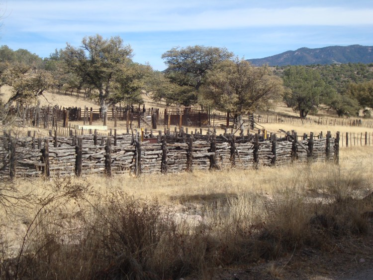 Interesting Corral where I stopped for water and an afternoon break.