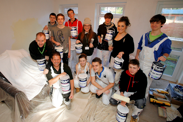 South Leicestershire College students work experience painting project