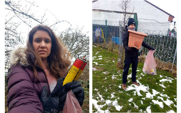 litter picking collage