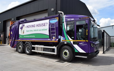 Blaby rebranded waste collection vehicle
