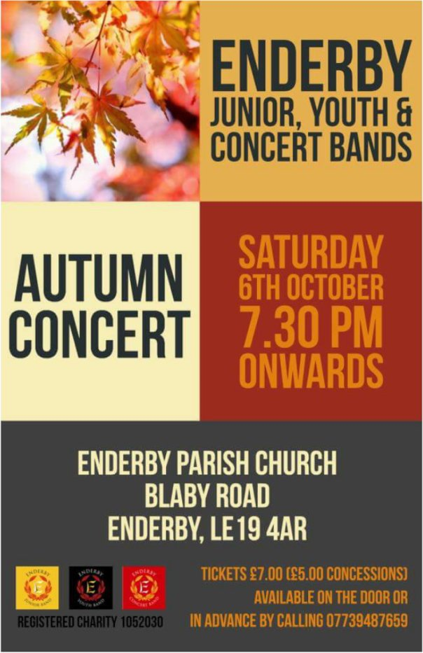 Enderby Band Autumn Concert Poster