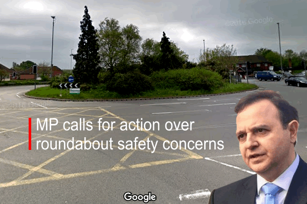 MP calls for action over roundabout safety