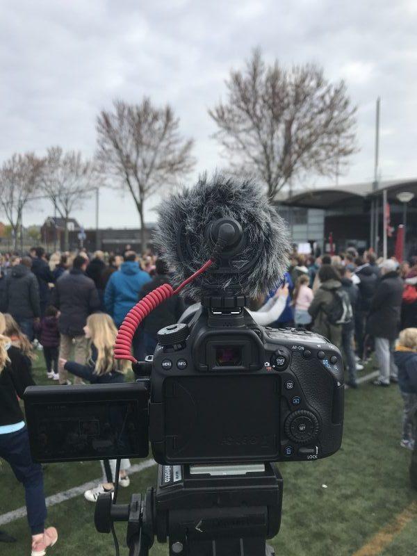 filmen tijdens sportdag met Canon 80D