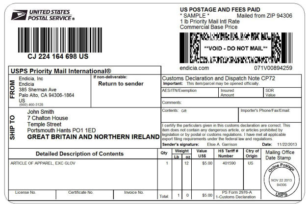 Usps Customs Forms Online