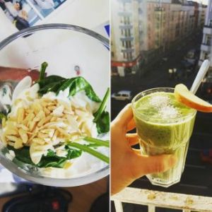 Smoothie mit Spinat