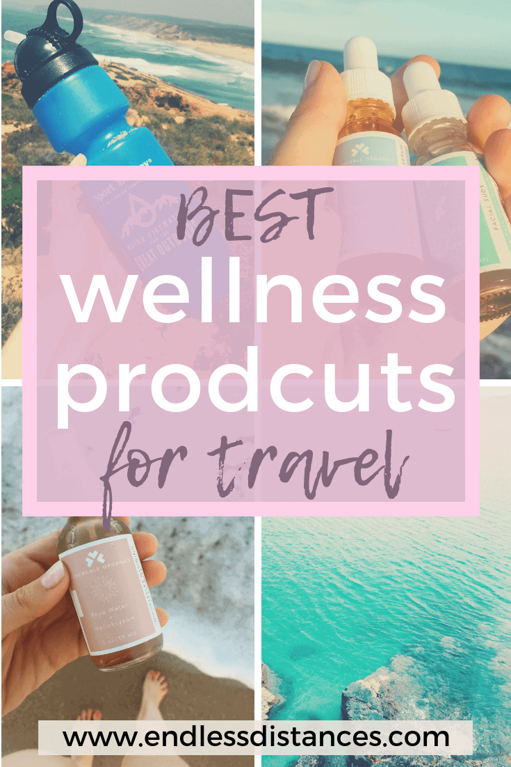 Wellness travel is more than spas: It is taking care of your body, and the products you put in and on it. Here are our recommended wellness travel products. #wellness #travel #wellnesstravel #travelproducts #travelbeauty #cloverdaleorganics #cloverdalecollective #organicbeauty #encircled #ethicaltravelproducts