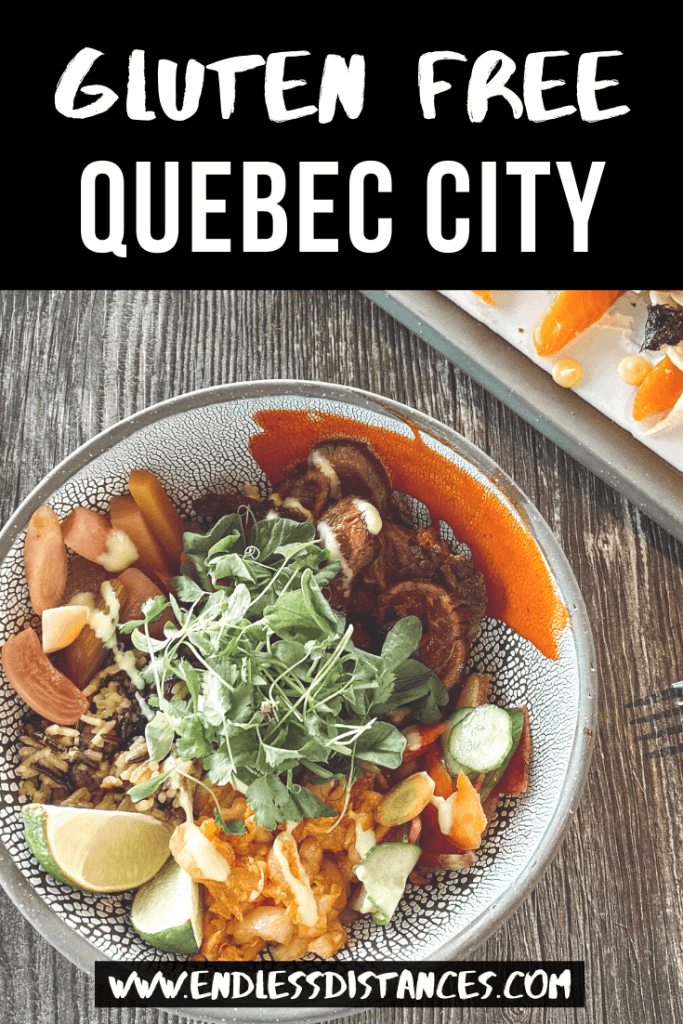 Heading to Quebec City and looking for the best (and safest) gluten free restaurants? Here is your complete gluten free Quebec City guide. #glutenfreequebeccity #quebeccity #glutenfreequebec