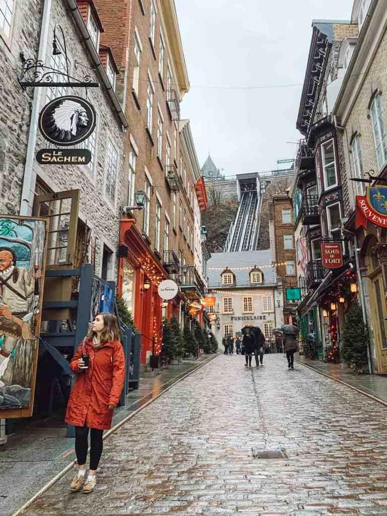 The Quartier du Petit Champlain in Quebec City.