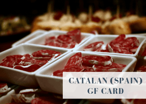 Gluten free translation card for Catalan