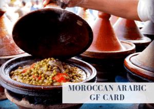 Moroccan Arabic gluten free card