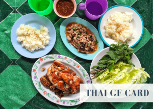 Thai gluten free card