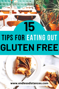 Eating out gluten free can be overwhelming. These tips will help you eat out gluten free without getting sick (or stressed). #eatingoutglutenfree #glutenfree #glutenfreetravel